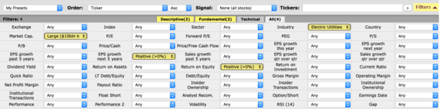 screener outils trading