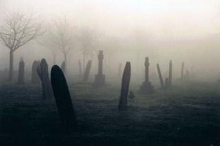 Atmospheric cemetery border