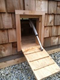 Solar-powered chicken coop door