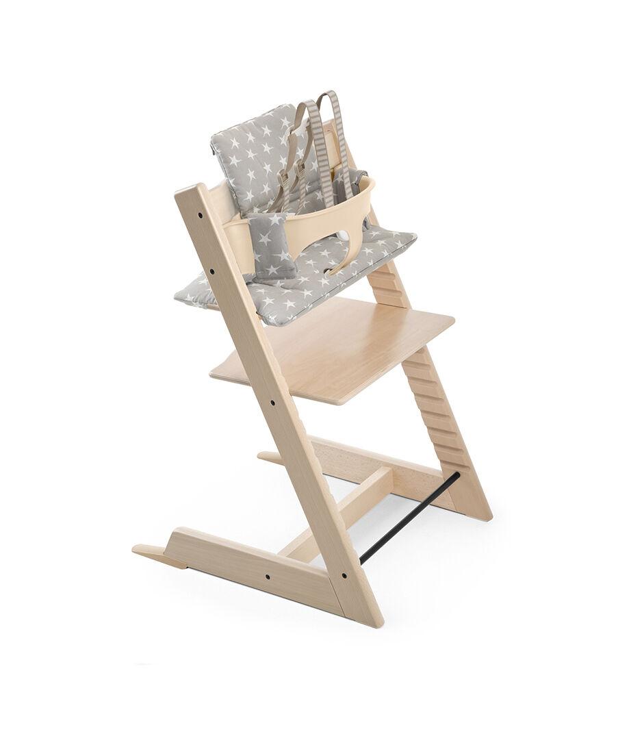 tripp trapp high chair desk white natural cushion
