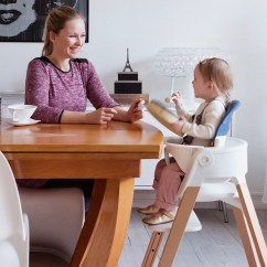 Stokke High Chair White Folding Chairs For Sale Steps Natural With Seat