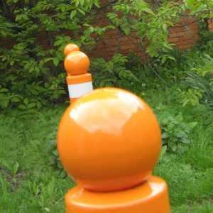 Дорожный столбик с шаром  d=76mm L=750 мм