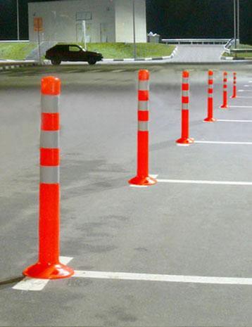 Гибкий парковочный столбик  d=80mm L=750мм
