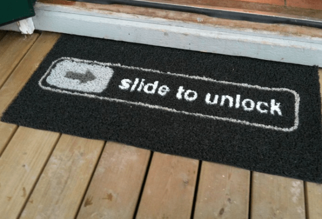 Just wipe your feet on this first.