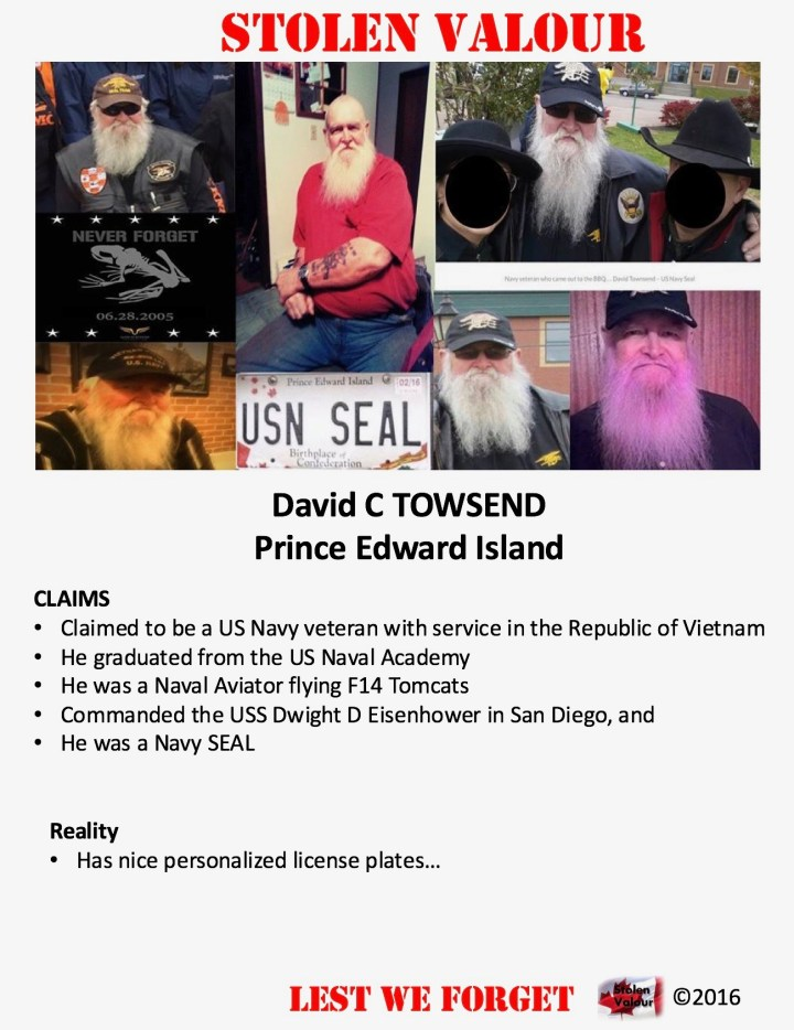 David C Townsend – Never a SEAL but, he has the license