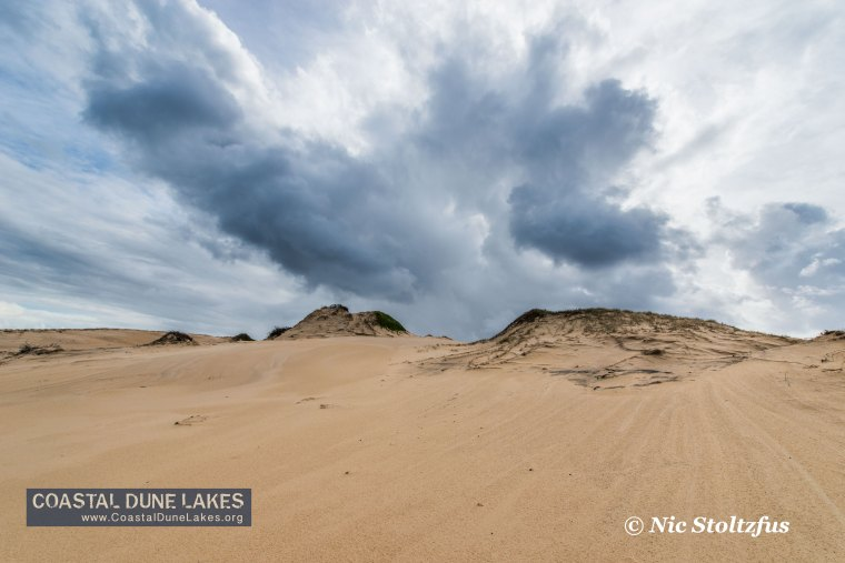 More clouds over the dunes at Mungo Brush.