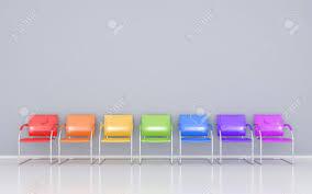 set stoelen regenboog kleuren