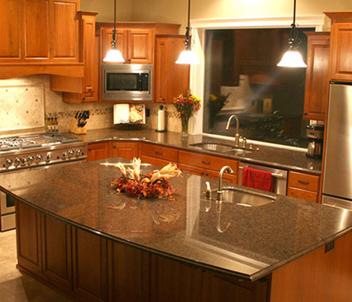 kitchen island counter outdoor with fireplace 花岗岩台板 花岗岩中岛柜台板 厨房中岛柜台板