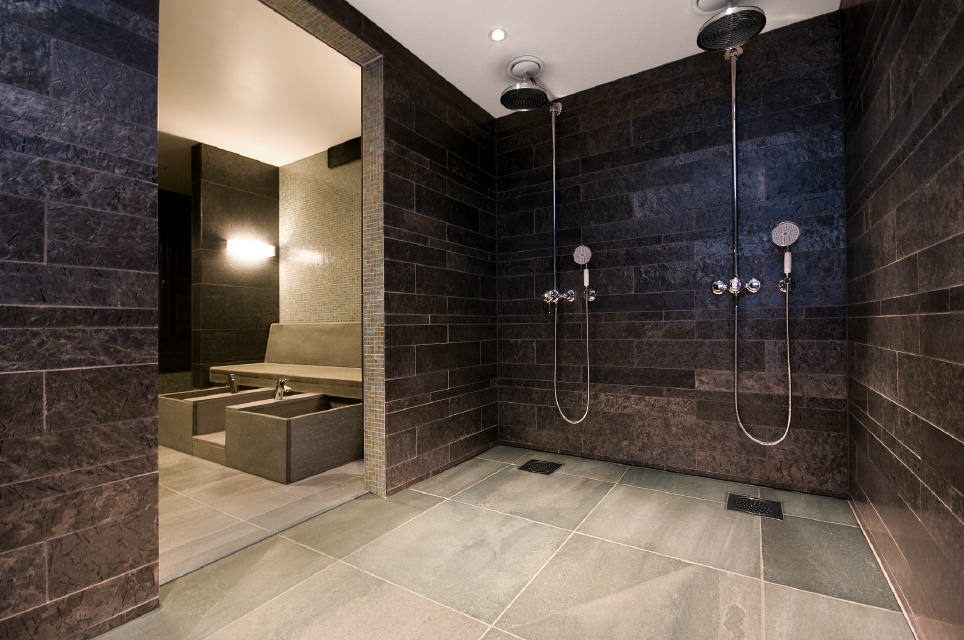 in the wellness area oppdal slate is supported by otta slate geologically correct phyllite schist and a polished surface