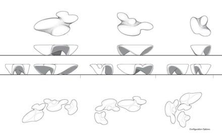 "Citco/Zaha Hadid: ""Mercuric Tables Limited Edition""."
