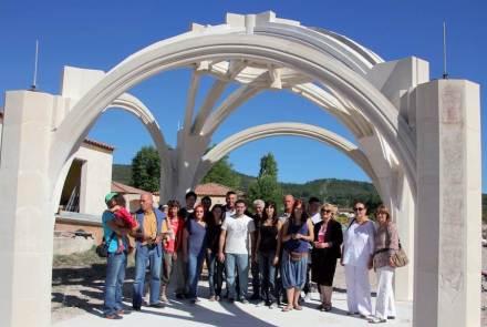 Freistehendes Gewölbe aus Kalkstein: Es wurde mit einem der diesjährigen französischen Architekturpreise für das Bauen mit Naturstein ausgezeichnet.