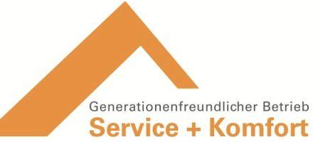 """Logo """"Generationenfreundlicher Betrieb Service + Komfort""""."""
