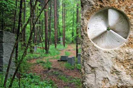 """Bildhauer Tobel: """"Energy"""", Jura Kalkstein."""