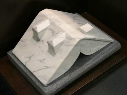 """Jose Luis Hinchado: """"Architecture book"""", Carrara marble."""