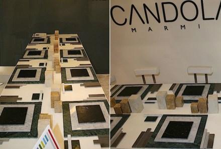 Scandola und Manuel Barbieri auf der Marmomacc 2013: ein gedeckter Tisch.
