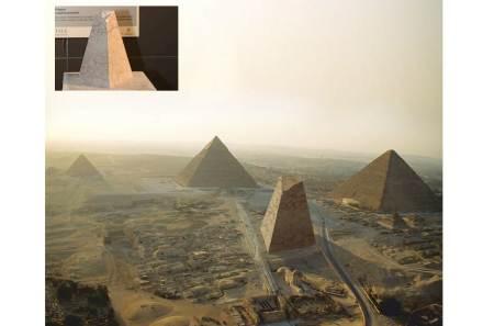 """""""Imagine. La quarta piramide"""" di Graziano Filippini. L'arte è espressione della cultura e dell'identità di un popolo, il cui compito è quello di aiutarci a non dimenticare. La piramide di pietra, simbolo di eternità, diventa museo dove tracce antiche trovano dimora."""