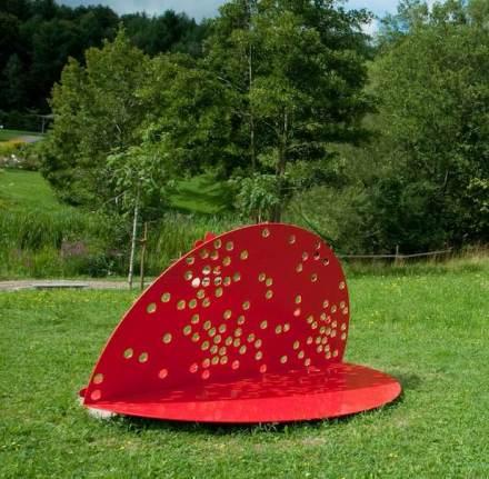 "Skulpturensommer 2012: ""Girasole"" von S. Immer. Foto: Eberhardt / Uni Ulm"