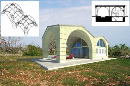 """Im """"Ardito House"""" ist die Überdachung der Veranda ebenfalls mit einem Gewölbe gestaltet."""