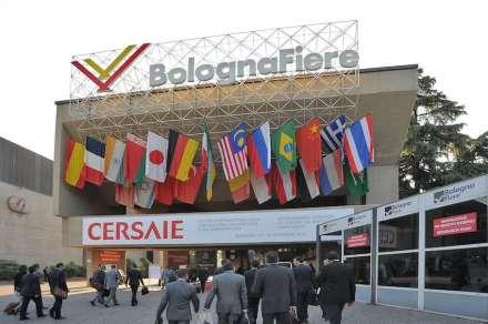 Entrada principal da Cersaie, 2013. Foto: Bologna Fiere