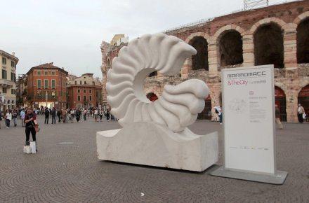 """Marmomacc & the City: """"Energia pulita"""", <a href=""""http://www.ghirardi.it/""""target=""""_blank"""">Marmi Ghirardi</a>. Foto: Ennevi"""