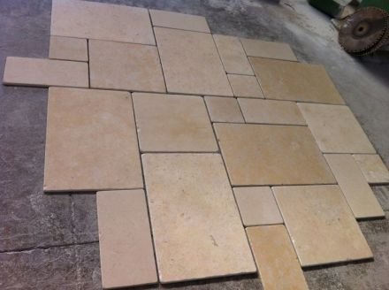 See here a Roman Tile pattern made of remnant pieces.