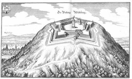 Matthäus Merian (1656): Die Festung Wülzburg. Quelle: Wikimedia Commons