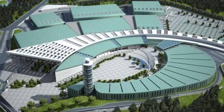 O novo centro de exposições em Esmirna.