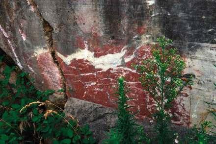 """""""Rouge"""". Red marble. Foto: Marbres de France"""