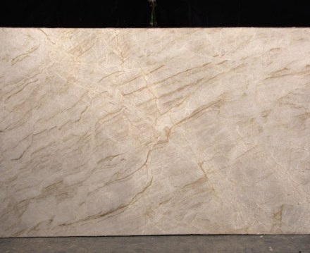 """Perla Venata"" quartzite has been on the market for some 4 years. Its unusual appearance guarantees a price of 260 US-$/m² x 3 cm- thick. The stone is quarried by Gramil-Company of E.S."