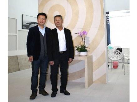 Jeffrey e seu pai Shuyan Lin. Foto: Peter Becker