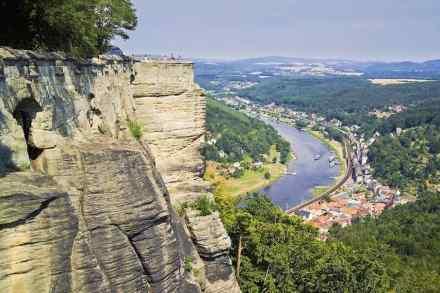 Blick auf die Ortschaft Königstein.
