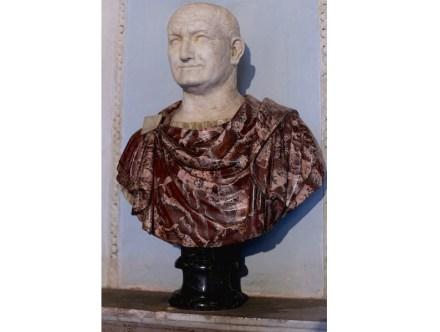 Portrait of Vespasian (69-70 A.D.), Greek Red Portavenere and Alabaster, Capitoline Museums, Rome.