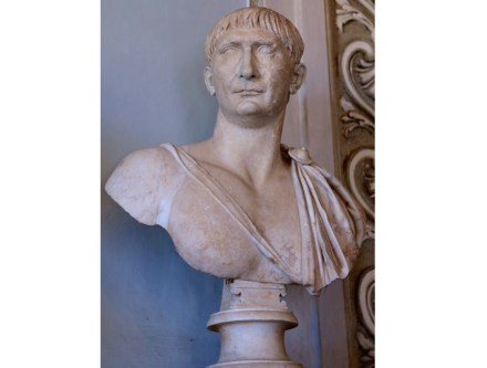 Portrait of Trajan (108 A.D.), Grechetto Marble, Capitoline Museums, Rome.