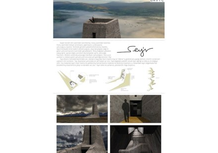 Students, Third Prize category Sacred Spaces: Seda Öznal, Ege Acar and Özgüç Bertuğ Çapunaman from Bilgi University.