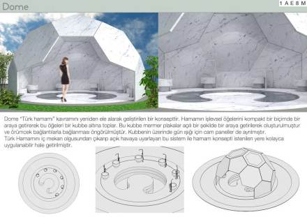 Students, Second prize category Turkish Bath and Bathroom: Mimar Sinan Fine Arts University Burak Kocak.