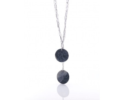 Necklace in Grey Bardiglio Marble..