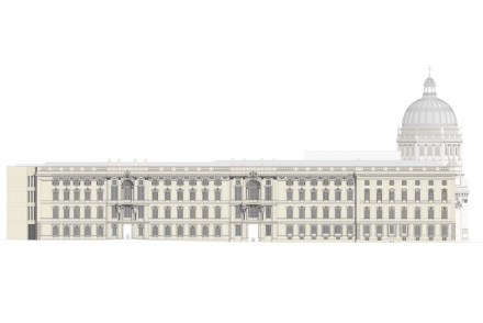 La residenza cittadina storica come viene ricostruita come Berliner Schloss – Humboldtforum.