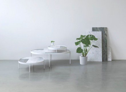 """The result was the birth of """"Patch Marble Tables"""" where the tabletop is made of various types of marble arranged in a type of rigid patchwork."""