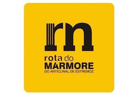 Logotipo da Rota do Mármore do Anticlinal de Estremoz.