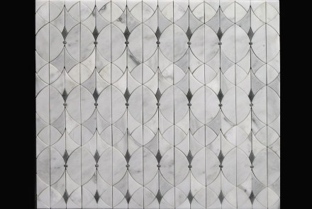 Tile designers combine the elegance of natural stone with vivid lines.