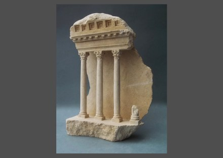 Matthew Simmonds: Colonnade IV: Palmyra, Limestone, 24 cm height.