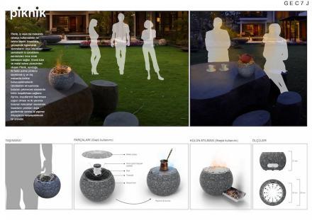 Professional designers, decorative items, First Prize: Müge Öztürk.