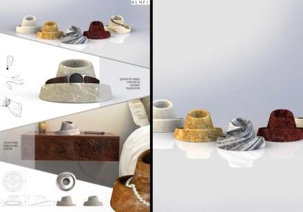 Professional designers, decorative items, Second Prize: Serefraz Akyaman.