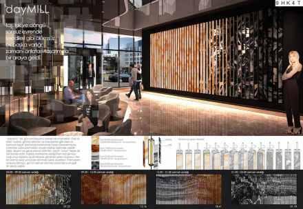 Professional designers, hotel lobby and shopping mall, First Prize: Metehan Erdoğdu, Samet Fener.