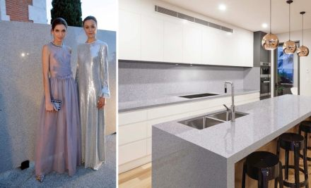 Levantina Fashion Night: Bianco Trevi granite, Naturamia Collection.
