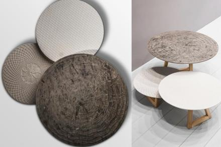 "Marella Ferrera, Lithea: side tables ""Nichi""."