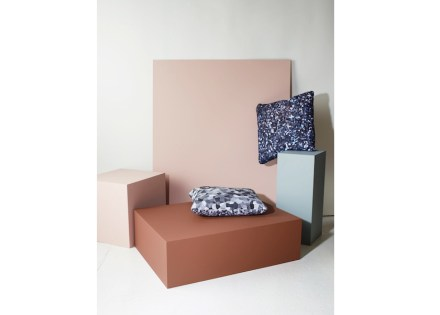 """Martin Solem photographed Lundhs Marina and Lundhs Blue for """"Norwegian Materialsand printed the photos on cushions."""