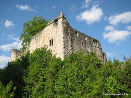 Die Burgruine Leofels.