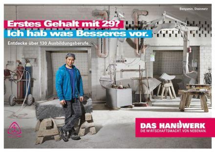 Poster der Handwerkskampagne mit Benyamin Ahmadi.