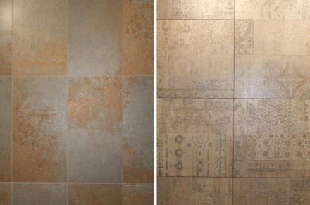 """Il settore della ceramica imita tutti i materiali e gioca con questo. Ditta <a href=""""http://www.vidres.com""""target=""""_blank"""">Vidres</a>."""